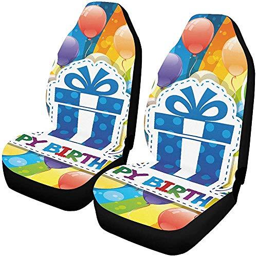 Enoqunt Funda de asiento de coche para niñas Ilustración vectorial Feliz cumpleaños...