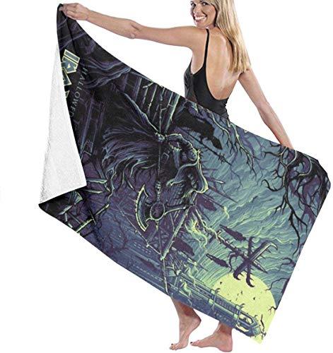 Pureny Iron Maiden Hallowed Bath Towels Beach Towel Bath
