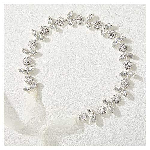 SWEETV Silber Blume Mädchen Haarreife für Hochzeit, Prinzessin Hochzeit Haarbänder - Baby Mädchen Kristall Haarschmuck für Geburtstag Party, Fotografie