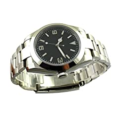 MOVEMENT: Automatic (self-winding) movement CASE MATERIAL: polished 316L stainless steel case with back BRACELET: stainless steel FRONT GLASS: sapphire glass Clasp type : Deployment Buckle