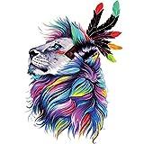 Hergon Parches de león para niños, pegatinas de bricolaje, parche para planchar, para bolsos, sombreros, vaqueros, apliques de decoración, 132#