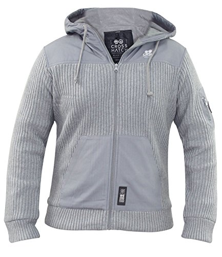 Men Crosshatch Biteback Light Grey Marl M