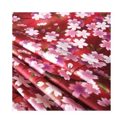 5680ab0cb Red Sakura Cherry Blossom Janpanese Red Sweet Kimono 36 by 36-Inch Wide (1