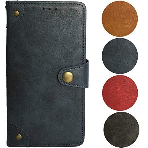 QHTTN Blau Retro Echt Leder Tasche Hülle Für Elephone S1 5