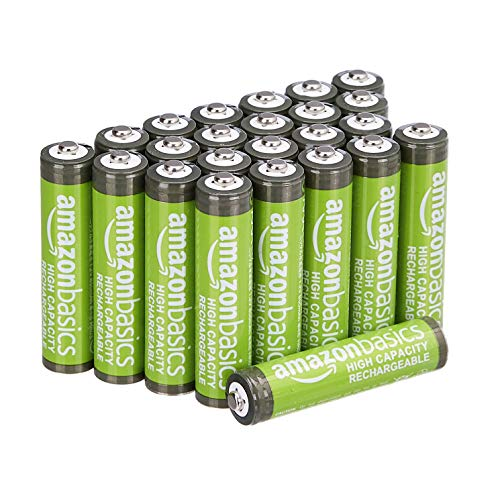 Amazon Basics 24-Pack AAA High-Capacity Rechargeable Batteries $18.44 (Retail $28.99)