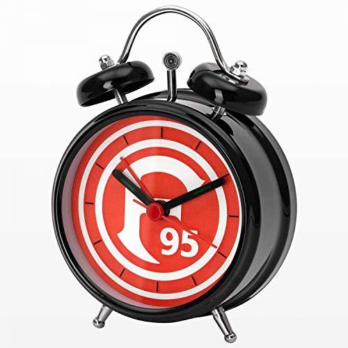 Fortuna Düsseldorf Glockenwecker - Logo - schwarz Wecker Uhr F95 (L)