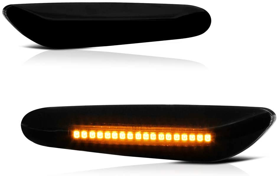 VIPMOTOZ Kansas City Mall Dark Smoked Lens Full LED Fender Ligh Side Marker Front Dallas Mall