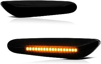 VIPMOTOZ Dark Smoked Lens Full LED Front Fender Side Marker Light Turn Signal Lamp Assembly Replacement For BMW E82 E88 E90 E91 E92 E93 E60 E61 E83, Driver & Passenger Side