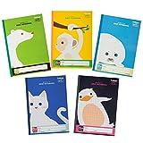 キョクトウ 学習帳 カレッジアニマル 5mm方眼 B5 5冊束 クールカラーセット LT0105BT
