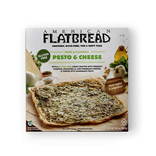 American Flatbread Gluten-Free Pesto and Cheese Pizza, 10.2 oz (Pack of 6) | Handmade | Wood-Fired | Thin and Crispy