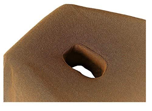EXKLUSIV HEIMTEXTIL Massageliege Frottee Spannbettlaken mit Nasenschlitz Marke 70-80 cm x190-200 cm Sand