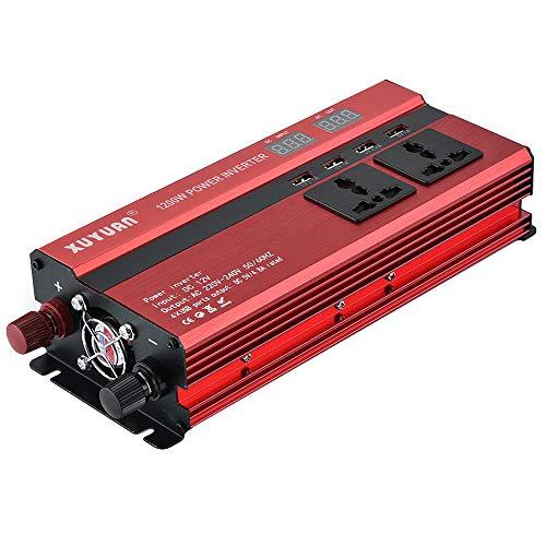 WHR-HARP Inverter 12V 230V, 1200W/2000W Sinus Spannungswandler Wechselrichter 12V auf 230V Konverter Pure Sine Power Inverter Umwandler für Auto, Direktanschluss an Autobatterie,12Vto220V-1200W