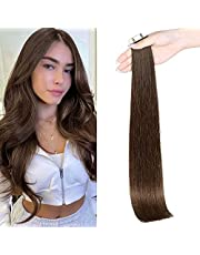 Maxfull Straight Semi-permanent Tape In Remy Hair Extensions Human Hair 14 Inch-24 Inch