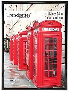 MCS Trendsetter Poster Back-Loading Wall Art & Puzzle Frame 18x24 Inch Black