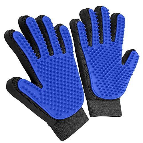 Juego de guantes de aseo para mascotas y perros, guantes para quitar el pelo, guantes de aseo para mascotas, guantes para perros y gatos y caballos