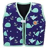 Swimbubs Chaqueta de natación para niños Chaleco de Flotador para natación Ayuda a la flotabilidad (1-3 años, Blue Whale)