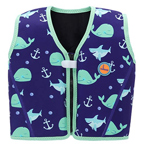 Swimbubs Children's Swim Jacket Swimming Float Vest for Kids Toddlers Buoyancy Aid (3-6 Years, Blue Whale)