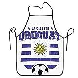 VimcustomPr 2018 Uruguay Fútbol Bandera Equipo Jersey Overlock Ajustable Delantales Cocinar Hornear Unisex