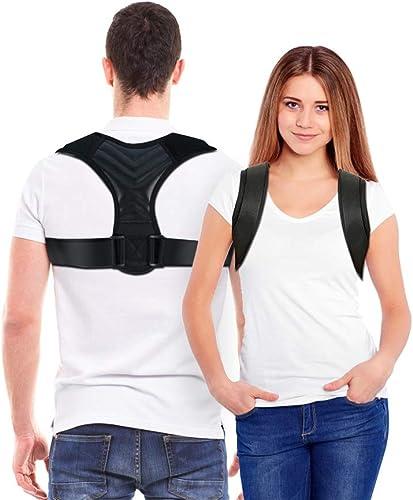 high quality Posture new arrival Corrector, Back Straightener for Women & Men 2021 - Adjustable Posture Corrector Back Brace - Relief on Neck, Back, Upper Back and Shoulder Pain (Fit 37-49'') sale