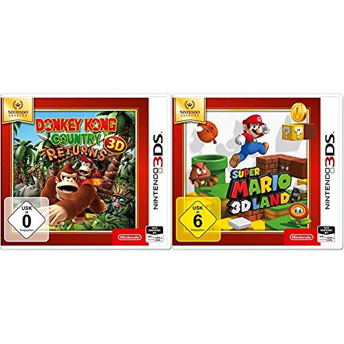 Donkey Kong Country Returns 3D - Nintendo Selects - [3DS] & Super Mario 3D Land - Nintendo Selects Edition - [Nintendo 3DS]