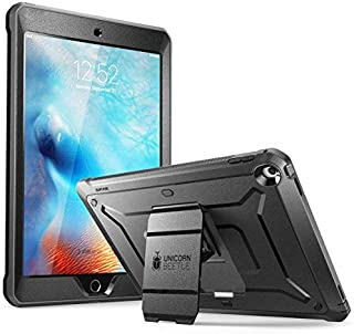 SUPCASE iPad 9.7 Case 2018/2017, [Unicorn Beetle PRO Series] Full-body Rugged Protective Case with Built-in Screen Protector (Black/Black)