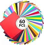 Wishesther 60Pcs Self Adhesive Vinyl Sheets 12
