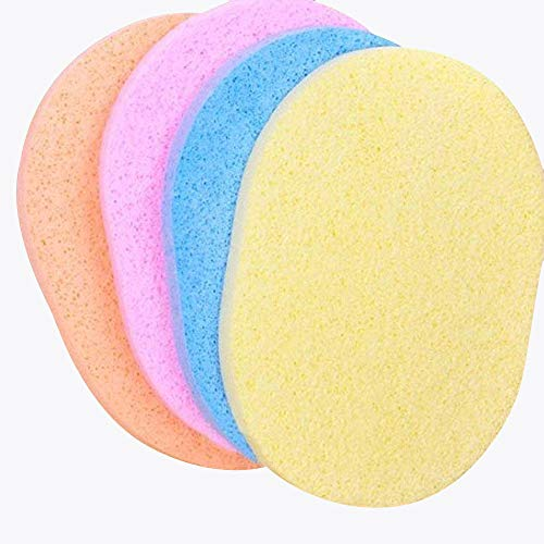 AsentechUK® 10 Stks Natuurlijke Zeewier Poeder Puff Cleansing Wash Gezicht Spons Make-up Tool(Random kleur)