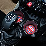 TOPDECO 73mm Red Union Jack UK Flag Style Soft Silicone Cup Holder Coasters Front Cup Holders