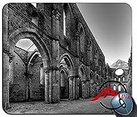 ZMvise古い建物の背景ファッション漫画マウスパッドマットカスタム四角形ゲーミングマウスパッド