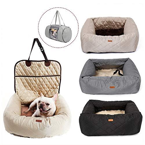 Hunde Autositz für kleine bis Mittlere Hunde und Haustiere Wasserdicht Hundesitz Auto mit Sicherheits-Leine autositzbezug für Hunde Tragbare Autositze Hund praktischen Hunde sitzbezug Hund / Beig