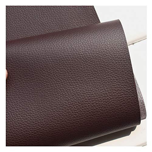 Leder Stoff Kunstleder Leder PVC Möbel Sitzbezug Meterware Polster geeignet für Sofas, Stühle und Taschen,Dunkel, braun, 1,38 × 2m