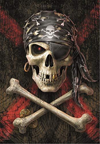 Heart Rock Flagge Original Anne Stokes Pirate Skull, Stoff, Mehrfarbig, 110 x 75 x 0,1 cm
