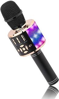 BONAOK Microfoon voor Kinderen, Draadloos Magic Sound Karaoke-Microfoon, 4-in-1 Bluetooth Karaoke Machine, Karaoke-Microfo...
