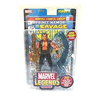 Marvel Legends 6  Action Figure Series 2   NAMOR with Bonus 32 page Comic Book and Collector Wall Mountable Display Stand