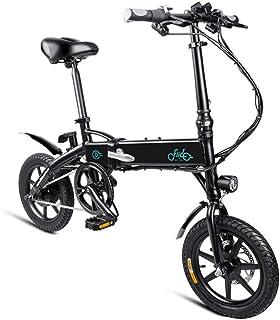 Quiet.T Bicicleta Eléctrica Plegable, 3 Pasos, Plegado Rápido, Más Seguro, Potente Motor De 250 Vatios, Velocidad Máxima De 25 Km/H para Adultos (Negro, Blanco)