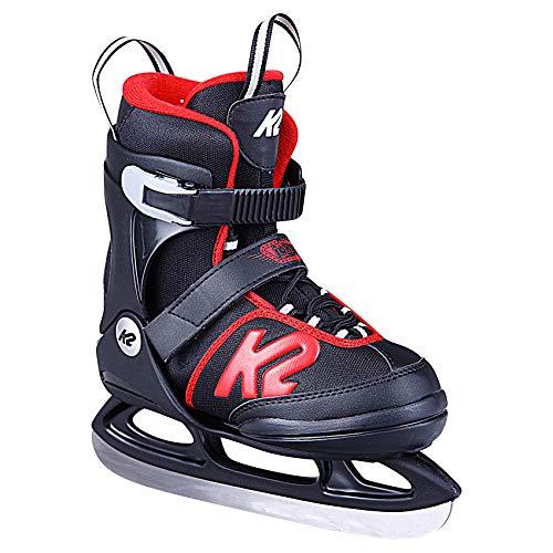 K2 Skates Jungen Joker Ice (Boy) Skates, Schwarz/Rot, 35-40 EU