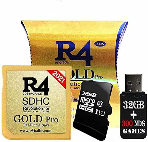 Adaptateurs Gold Pro SDHC et USB avec 32 Go, Incluent Les Jeux DS, Noyau Déjà Installé, Fonctionne sur DS DSI 2DS 3DS