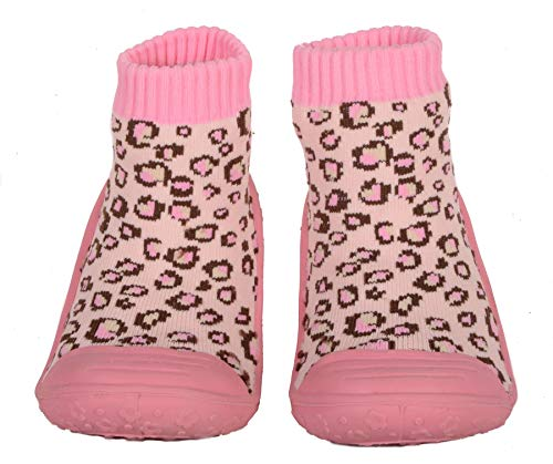 SKIDDERS Baby Toddler Girls Leopard Shoes Style #XY4189 (6) 18 Months Pink