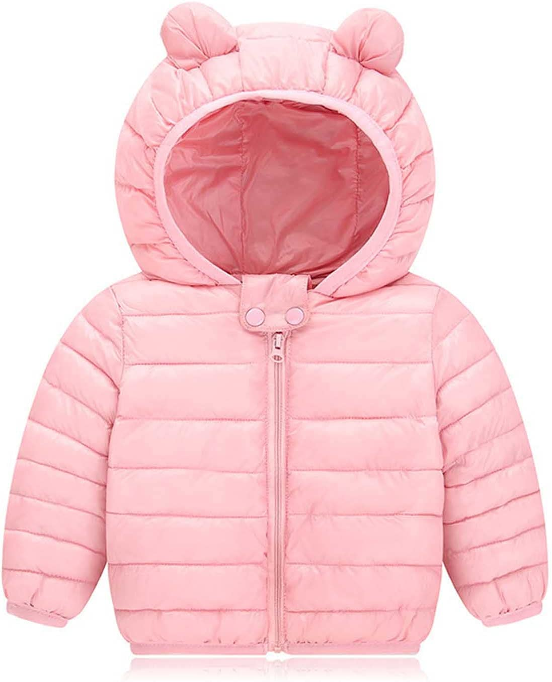 Fashion Kids Jackets-Children's Solid Color Zipper Thick Coat Padded Winter Jacket Clothes Down Jacket