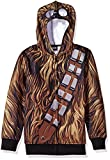 Star Wars Big Boys' Chewbacca Sublimated Fleece Zip Costume Hoodie, multi, X-Small-8