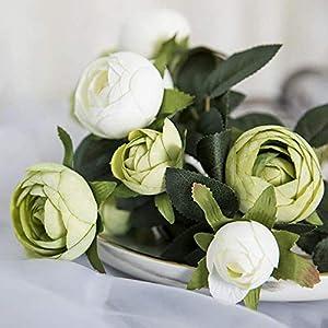 ORCATRA New Artificial Flower Bouquet, 10 Heads Camellia Centerpiece, Faux Silk Flower Arrangements, Home/Wedding/Party Floral Decor…