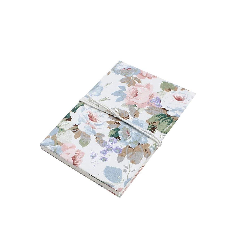 SuperHHH ノートブックハンドブック絶妙な布カバーハンドブック日記ギフトノートブックは180度拡大することができます美しいバラ柄 気配りの行き届いたサービス (Size : A5)