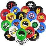32 Pièces Super-héros Ballons HANEL-Super-héros Avengers Latex Ballons Party Set pour Fêtes,Anniversaire,Cérémonie de Mariage,Party,d'anniversaire,Ballons de imprimé Dessin Animé