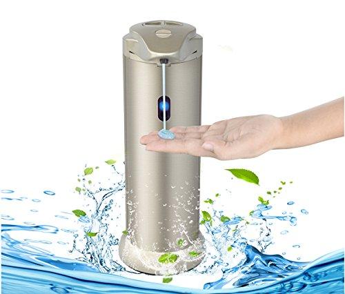 Distributore automatico di sapone per cucina e bagno da YOOSUN, dispenser di sapone in acciaio inox Touchless, sensore di movimento a raggi infrarossi IR
