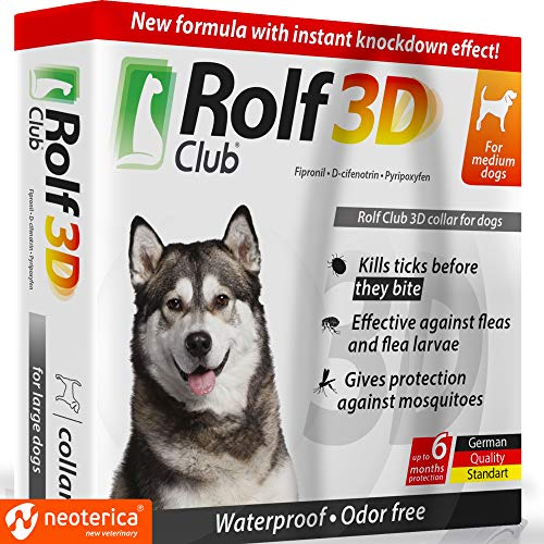 Rolf Club 3D FLEA Collar for Dogs – Flea and Tick Prevention for Dogs – Dog...