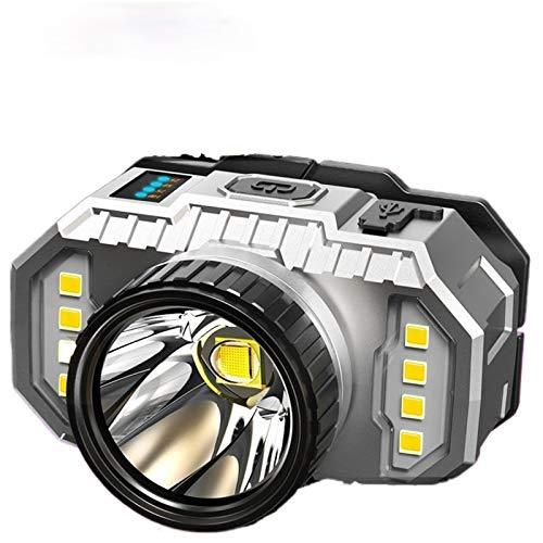 YSJJQSC Linternas Frontales Luz de Faros súper Brillante LED, lámpara de minero de luz Fuerte, lápiz, lámpara de Litio de Alta Potencia de Alta Potencia, lámpara de xenón de Litio