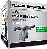 Rameder Komplettsatz, Dachträger SquareBar für VW Transporter T5 Kasten (124911-05004-4)