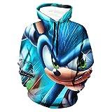 Sonic the Hedgehog 3D Printed Teen Hoodie Pocket Outwear Sweatshirt For Kids Casual Sports Hoodie For Teens 14-16 Years