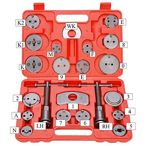 Hengda 22tlg Set Bremskolbenrücksteller Rücksteller Bremskolben 2 SPINDEL NEU