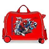 Marvel Spiderman Geo Valise Enfant Rouge 50x38x20 cms Rigide ABS Serrure à combinaison 34L 2,1Kgs 4 roues Bagage à main